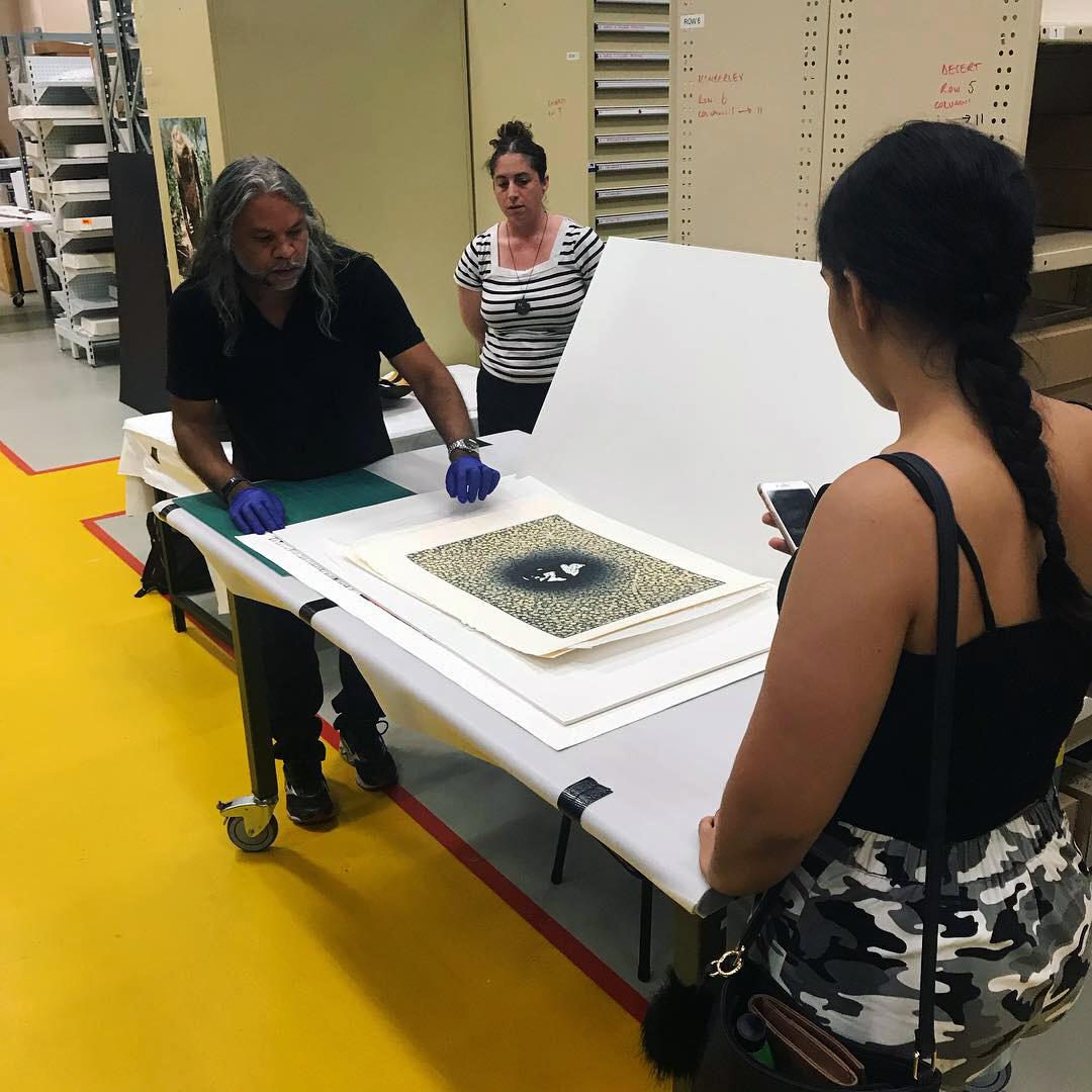 Brett Nannup (Registrar), WA Museum, presenting to the Arts Workers.